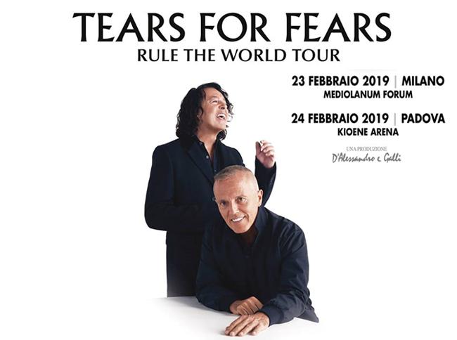 TEARS FOR FEARS raddoppiano: dopo Milano anche Padova a Febbraio