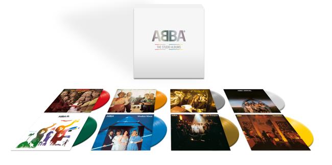 ABBA: THE STUDIO ALBUMS 8 VINILI COLORATI DAL 3 LUGLIO 2020