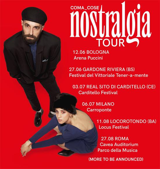 COMA_COSE parte il NOSTRALGIA TOUR